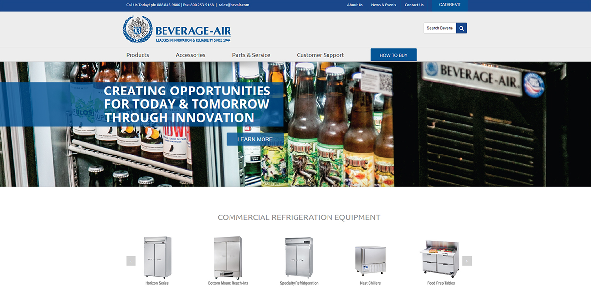 Beverage-Air New Website